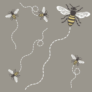Buzzy Bees Taupe