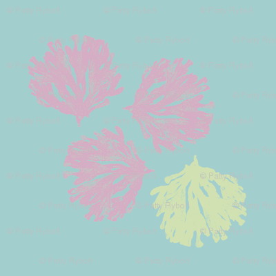 Sea Weed (grape, sea glass green & deep aqua)