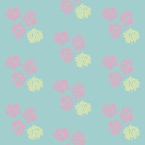 Sea Weed (grape, sea glass green & deep aqua) fabric by pattyryboltdesigns on Spoonflower - custom fabric