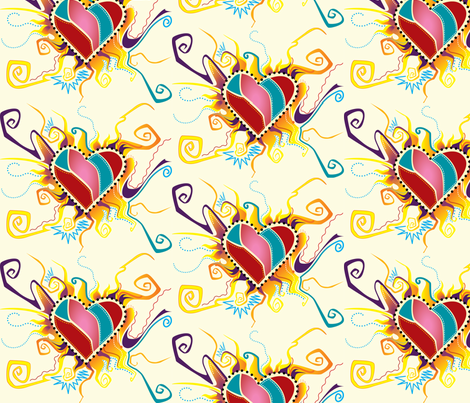 Whimsical Love fabric by khulani on Spoonflower - custom fabric