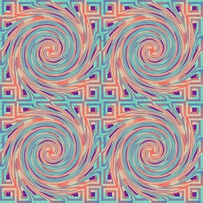 Twirl - Purple Pastel (Log Cabin)