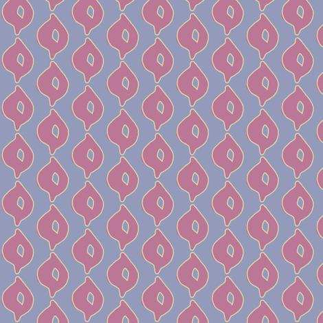 Doodle Dot (deep grape, yellow/green & deep blue) fabric by pattyryboltdesigns on Spoonflower - custom fabric