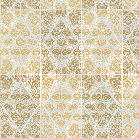Roses of Etiquette - gold/varied fabric by petals_fair_(peggy_brown) on Spoonflower - custom fabric