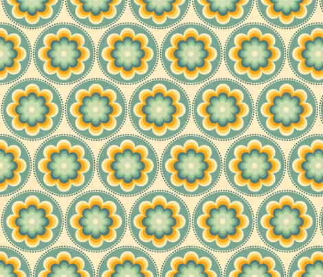 flower retro fabric by myracle on Spoonflower - custom fabric