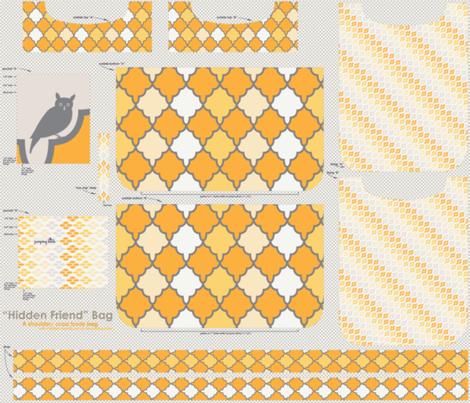"""Hidden Friend"" Bag - sunshine fabric by natasha_k_ on Spoonflower - custom fabric"