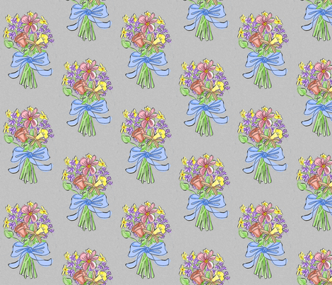bouquet-grey fabric by mammajamma on Spoonflower - custom fabric