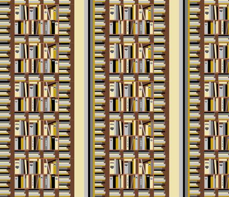 bookshelf fabric by kaynoh on Spoonflower - custom fabric