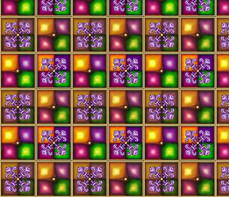 Fleur de Lis Violet fabric by pd_frasure on Spoonflower - custom fabric