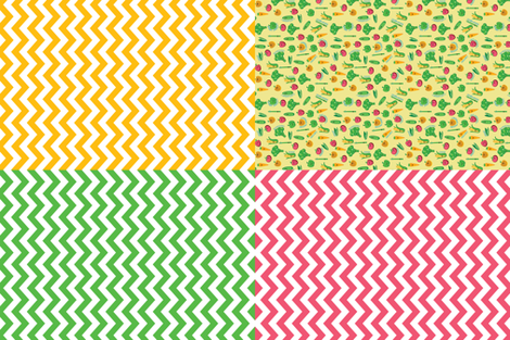 Market Tea Towels fabric by elizabethw on Spoonflower - custom fabric