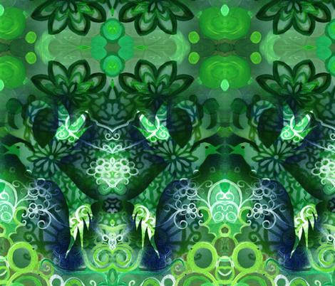large print spring birdie  fabric by heatherpeterman on Spoonflower - custom fabric