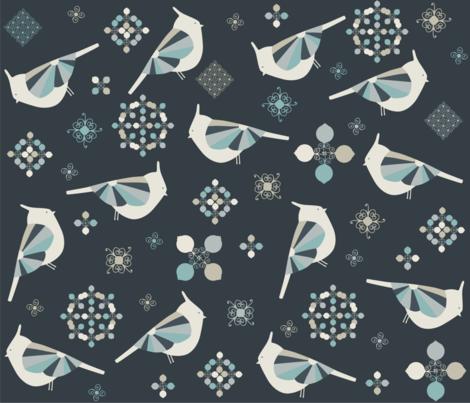 Petit Birds fabric by poppy_&_red on Spoonflower - custom fabric