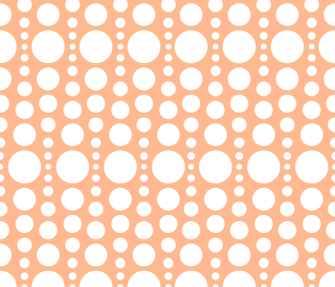 bubble orange fabric by myracle on Spoonflower - custom fabric