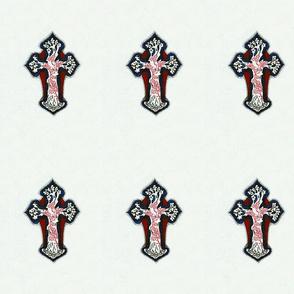 Inticate, Colorful, Repeating Cross / Crucifix Design