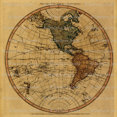 1786 Western Hemispehre Map by William Faden