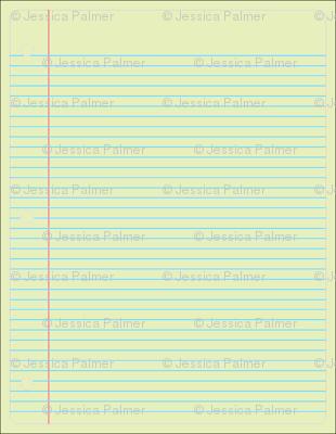 single sheet notebook paper yellow