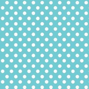 polka dot turquoise