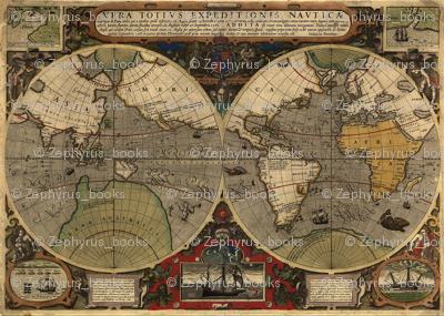 1595 World Map by Hondius