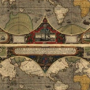 1595 World Map by Hondius
