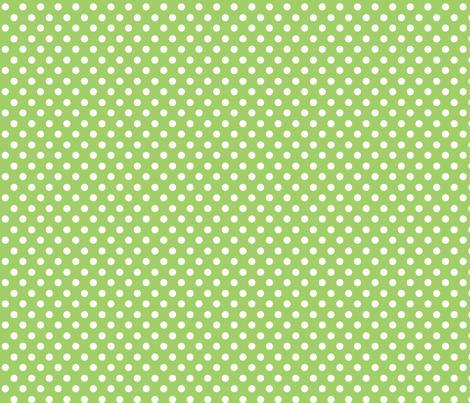 polka dot lime fabric by minimiel on Spoonflower - custom fabric