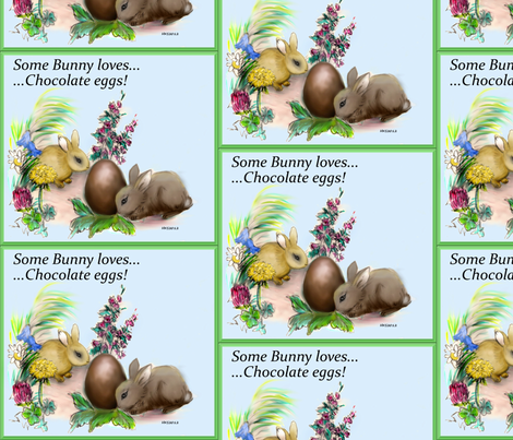 some_bunny_loves_you fabric by vinkeli on Spoonflower - custom fabric