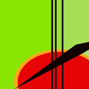 abstract red green black lines