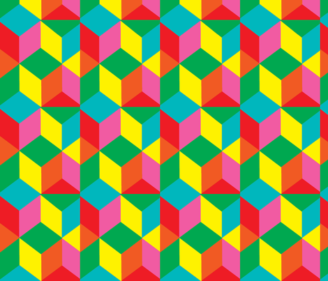 tumbling_blocks_mexico fabric by kateaustindesigns on Spoonflower - custom fabric