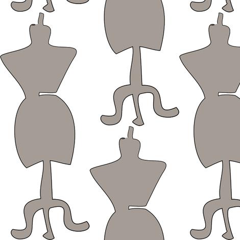 dressform2gray fabric by designsbychelsee on Spoonflower - custom fabric