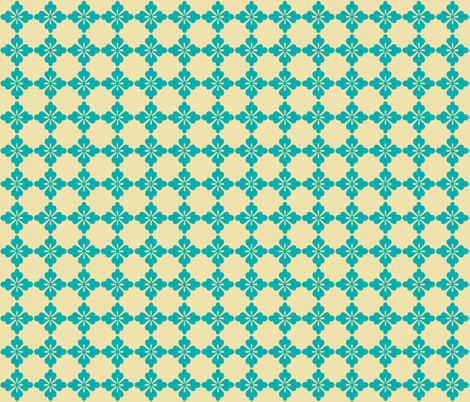 Rockette - Teal fabric by leahvanlutz on Spoonflower - custom fabric