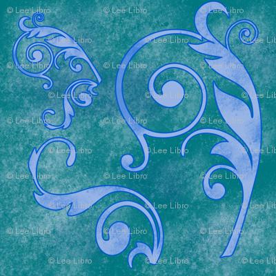 Lady Grunge - Teal/Periwinkle
