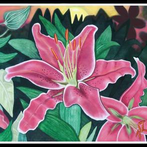 Lilies at Dawn 18x21