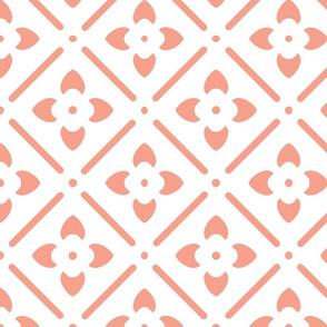 Flower Medallion-Coral