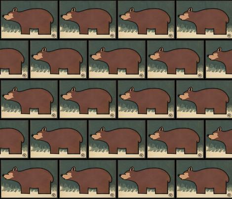 Bear fabric by zephyrus_books on Spoonflower - custom fabric