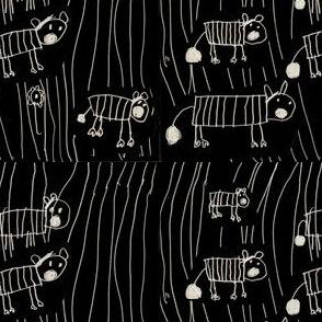 Zebras by Aurora on black-