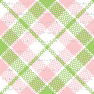 KC plaid pink/green