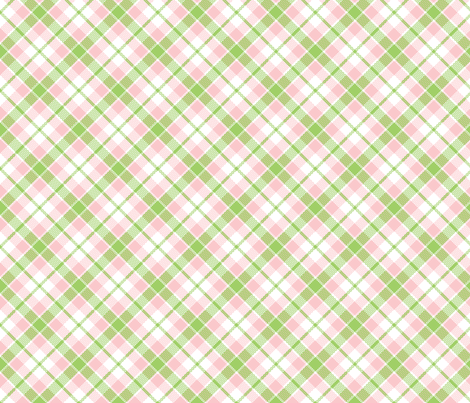 KC plaid pink/green fabric by minimiel on Spoonflower - custom fabric