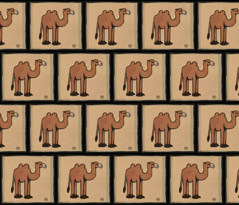 Camel fabric by zephyrus_books on Spoonflower - custom fabric