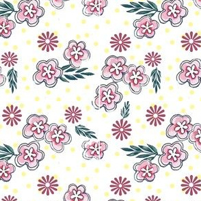 Pink Blossoms/Crafty Ladies Collection