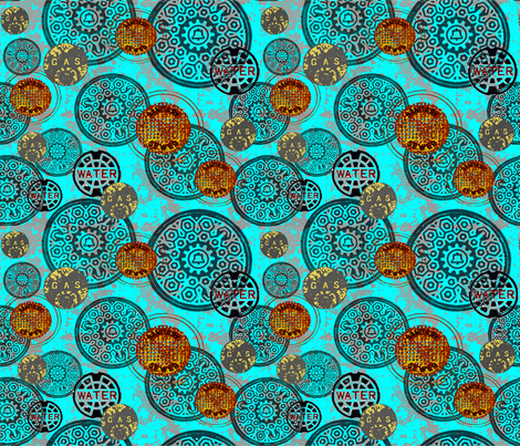 st_agustine_urban_sightings fabric by catail_designs on Spoonflower - custom fabric