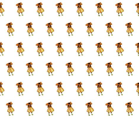 Flower Child (Children's Book) Black-Eyed Susan fabric by zephyrus_books on Spoonflower - custom fabric