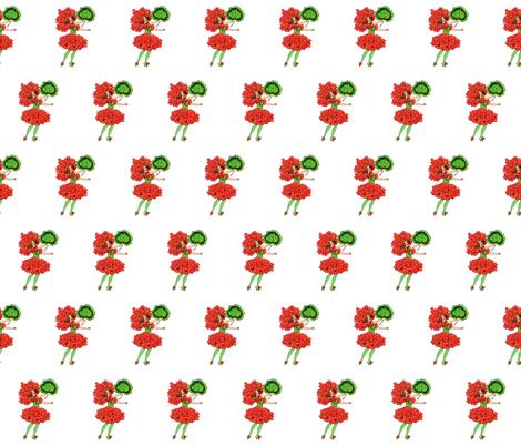 Flower Child (Children's Book) Geranium fabric by zephyrus_books on Spoonflower - custom fabric