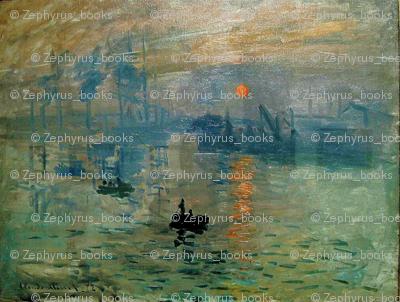 Claude Monet's Impression Sunrise (soleil levant) 1872