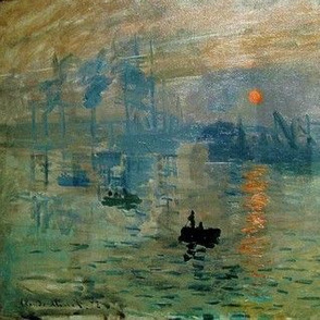 Claude Monet's Impression Sunrise (soleil levant) 1872