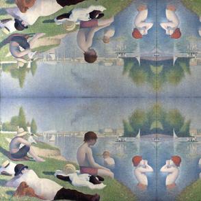 Georges Seurat's Bathers at Asnières 1884