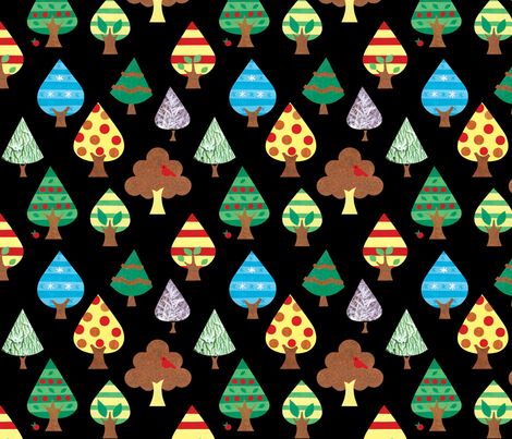 Toy Forest fabric by amaicandy on Spoonflower - custom fabric