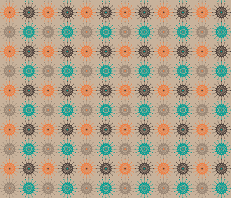 Retro Starburst 3 fabric by littletreedesigns on Spoonflower - custom fabric