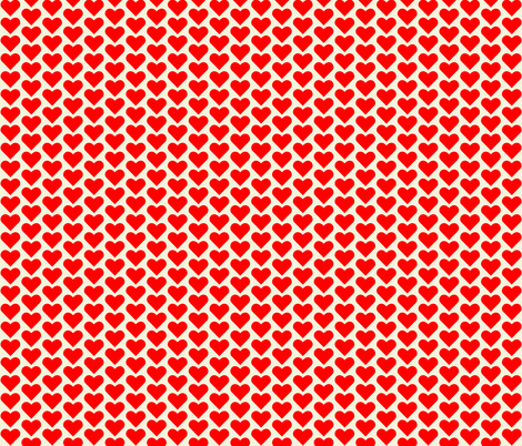 Red Hearts fabric by zephyrus_books on Spoonflower - custom fabric