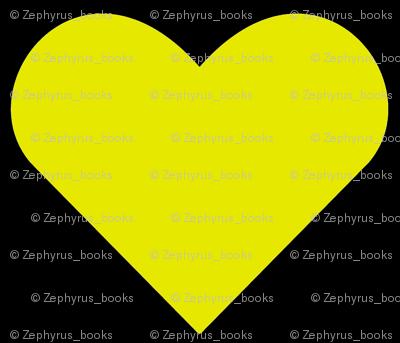 Yellow on Black Hearts