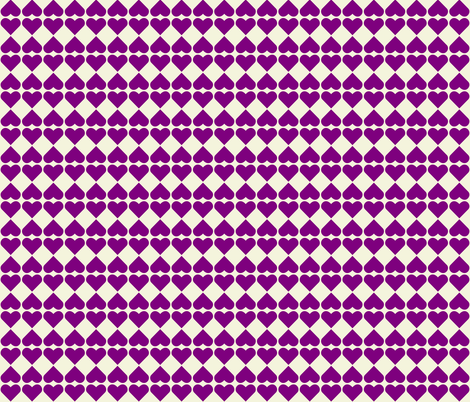 Purple Hearts fabric by zephyrus_books on Spoonflower - custom fabric