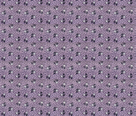 Purple calico - bright fabric by the_cornish_crone on Spoonflower - custom fabric