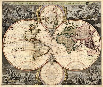 1690 World Map by Visscher
